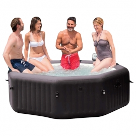 Spa hinchable Intex PureSpa Octogonal Jets + Bomba Marron