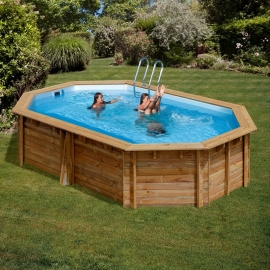 Piscina Gre Madera Cannelle 551 x 351 x 119 cm