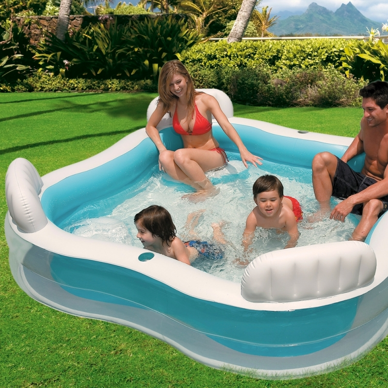 Piscina hinchable intex con asientos y respaldos for Piscinas hinchables grandes