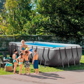 Piscina metálica Intex Ultra 549 rectangular + Depuradora arena