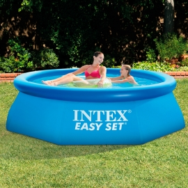 Piscina hinchable Intex Easy Set Hexagonal 244 + Depuradora