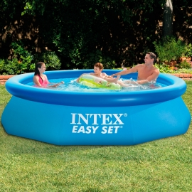 Piscina hinchable Intex Easy Set Hexagonal 305 + Depuradora