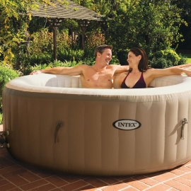 Spa hinchable Intex PureSpa Redondo Burbujas Crema