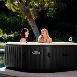 Spa hinchable Intex PureSpa Octogonal Bubbles + Jets + 2 almohadas Negro