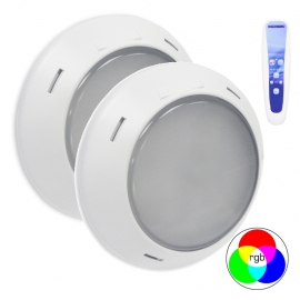 Foco led piscina Multicolor para liner LumiPlus RAPID V1 1.11 Wireless (2 focos + mando)