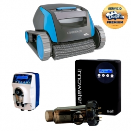 Clorador Innowater SALT 20 + Regulador de pH ePool + Dolphin Carrera 20