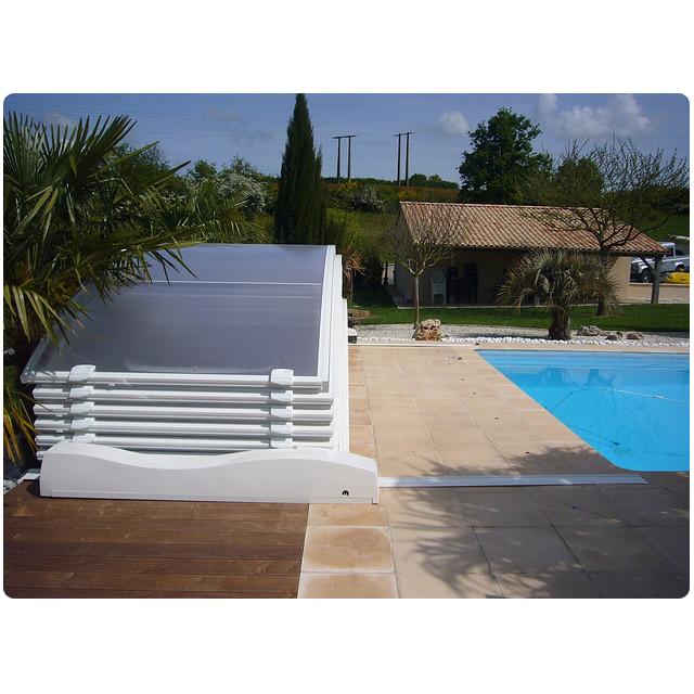 Cubierta baja motorizada para piscina de 6 x 3 for Cubiertas de piscinas pipor