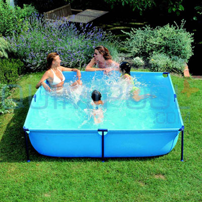 Piscina desmontable gre junior wet200 cuadrada for Piscinas desmontables cuadradas