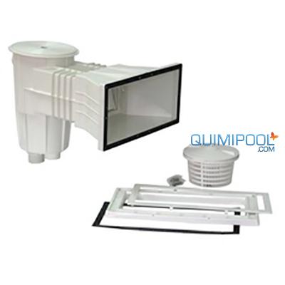 Skimmer tapa cuadrada para piscina de liner quimipool for Tapa skimmer piscina