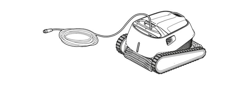 desenredar cables del limpiafondos Dolphin Carrera