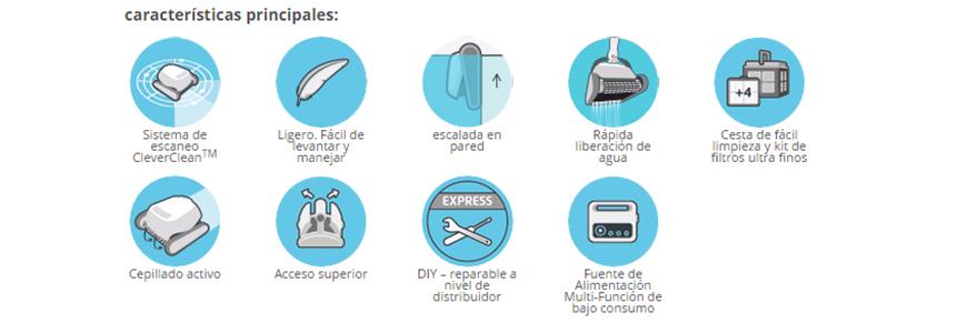 características limpiafondos Dolphin Energy 300